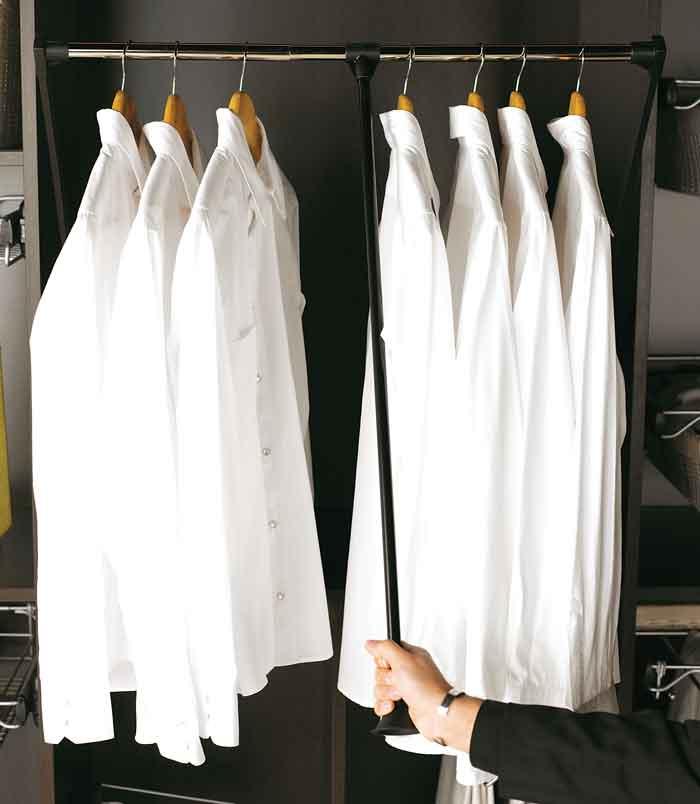 Utdragbar klädstång